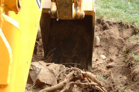 Image if excavator digging new ground