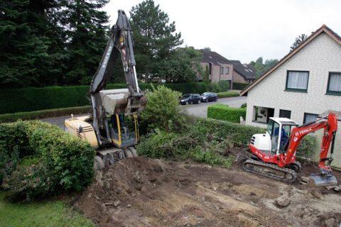 Image of excavator preparing building site