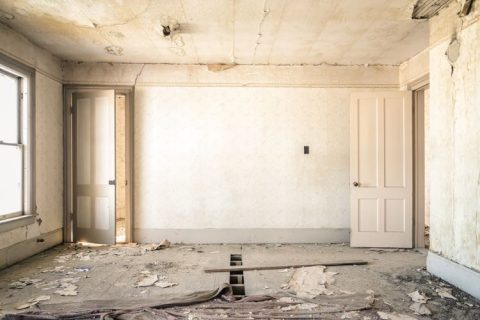 Image of interior room awaiting strip out